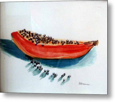 Still Life Metal Print featuring the painting Exodus by Lia Marsman