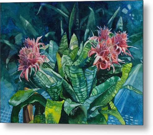 Floral Metal Print featuring the painting Two Against Three by Elizabeth Carr