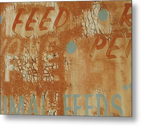 Gallery Art Metal Print featuring the photograph Sign Abstract by Billy Tucker
