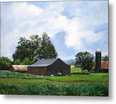 Farm Metal Print featuring the painting Tennessee Sky by William Brody