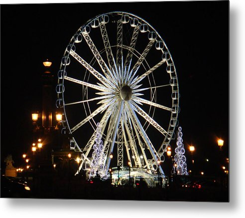 Wheel Metal Print featuring the pyrography The Childhood Remember by Yury Bashkin