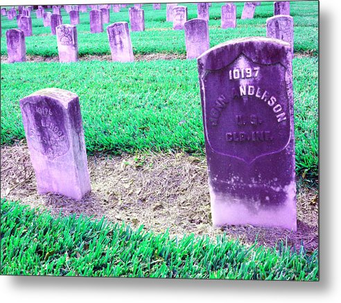Landscape Metal Print featuring the photograph The Colored Dead by Raven Creature