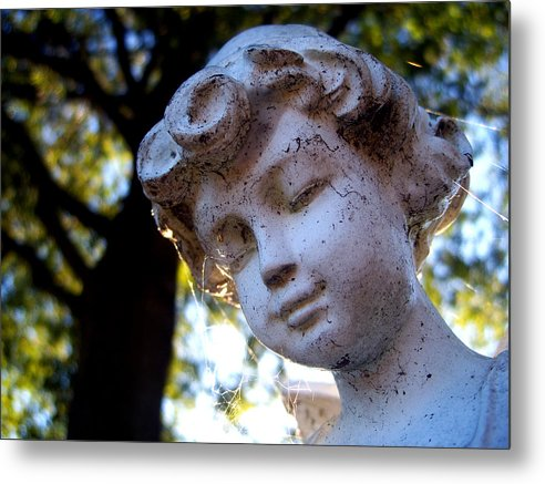Statue Metal Print featuring the photograph Watching Over You by Alexandra Harrell