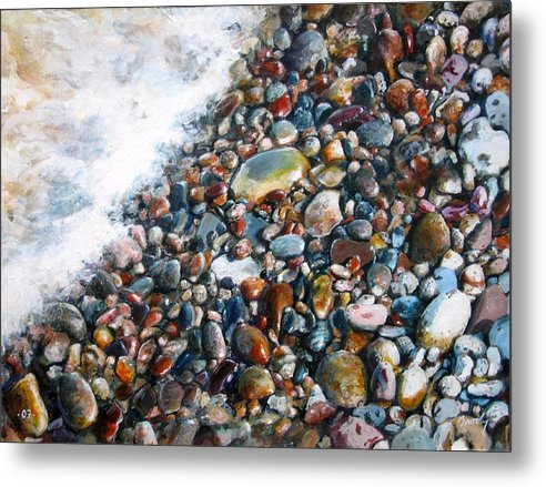 Stones Metal Print featuring the painting A Treasure Between by William Brody