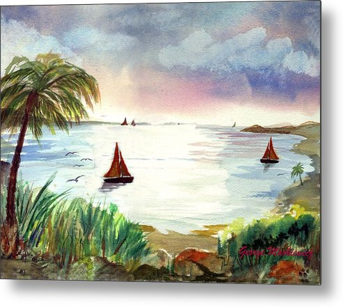 Island Landscape Metal Print featuring the print Island Of Dreams by George Markiewicz