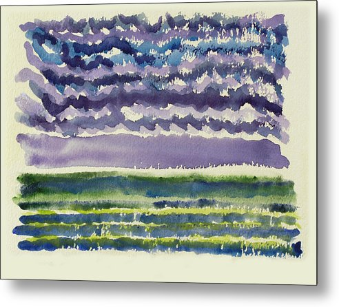 Seascape Metal Print featuring the painting Sea And Sky by Ralph Papa