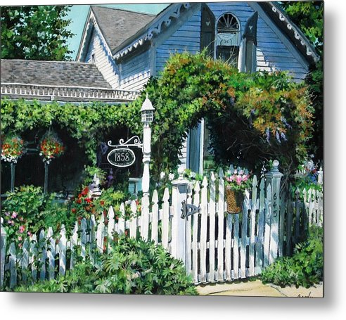Rural Metal Print featuring the painting Milford House by William Brody