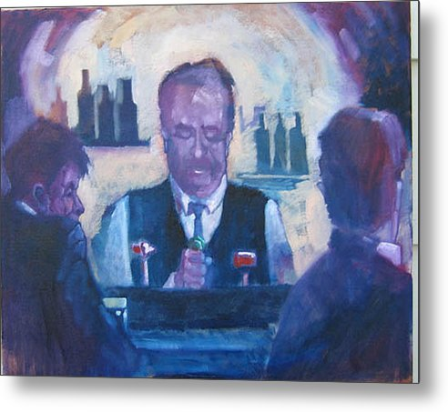 Figure Metal Print featuring the painting The Bartender by Kevin McKrell