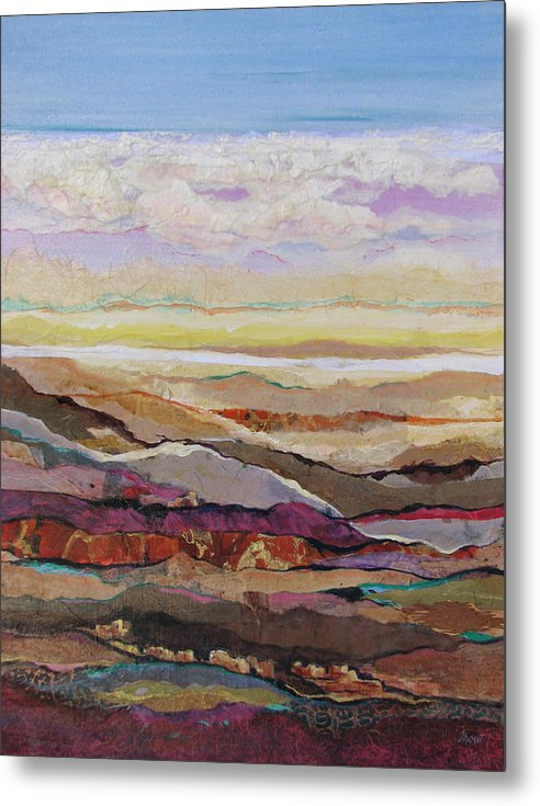 Southwest Mixed Media Metal Print featuring the painting Arizona Reflections Number Four by Don Trout