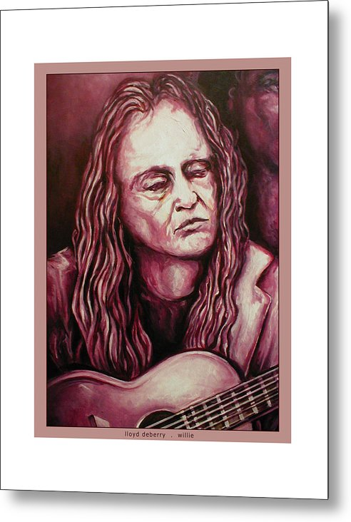 Metal Print featuring the digital art Willie The Print by Lloyd DeBerry