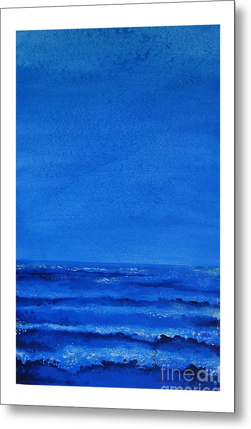 Abstract Metal Print featuring the painting Seascape-0 by Padmakar Kappagantula