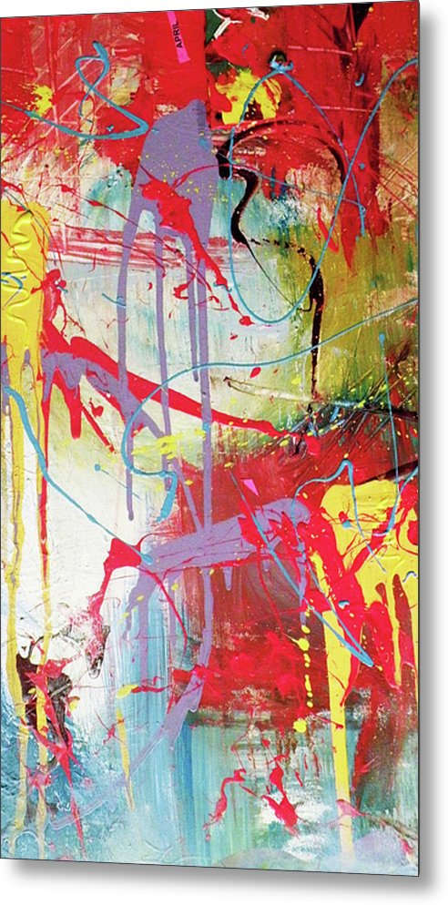 Abstract Landscape Metal Print featuring the painting Love In Space by Robert Daniels