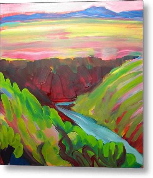 Southwest Metal Print featuring the painting Canyon Dreams 8 by Pam Van Londen
