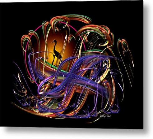 Abstract Metal Print featuring the digital art The Promise by Carolyn Staut