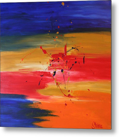 Abstract Painting Metal Print featuring the painting For My Husband by Shiree Gilmore