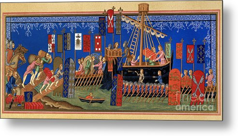 14th Century Metal Print featuring the painting Crusades 14th Century by Granger
