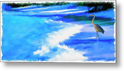 Heron Metal Print featuring the painting The Lookout by Dale Nichols