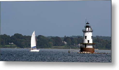 Light House Metal Print featuring the photograph Moving Towards The Light by Jeff Porter