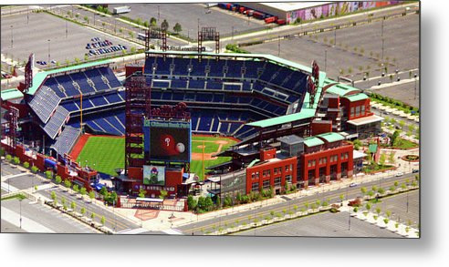 Aerial Photograph Metal Print featuring the photograph Phillies Citizens Bank Park Philadelphia by Duncan Pearson