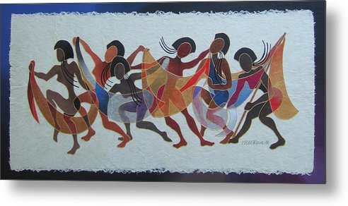 Fiji Islands Metal Print featuring the painting Rovati II by Maria Rova