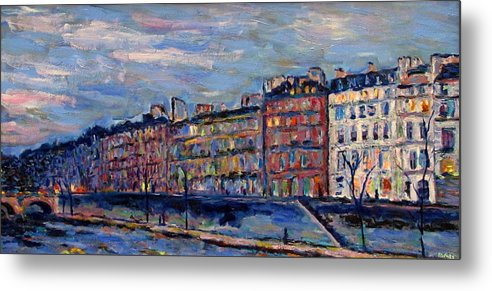 Seine Metal Print featuring the painting The Seine In Paris by Rob White