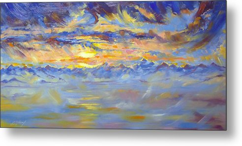 Earth Light Metal Print featuring the painting Earth Light Series by Len Sodenkamp