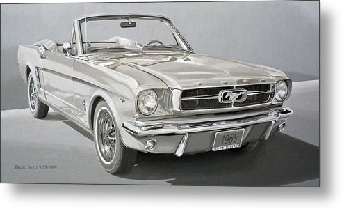 1965 Ford Mustang Metal Print featuring the painting 1965 Ford Mustang by Daniel Storm