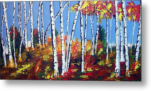 Birches Metal Print featuring the painting Birches by Paul Sandilands