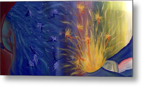 Colorful Metal Print featuring the painting Dance Of Life by Hollie Leffel