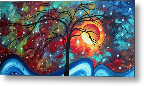 Original Metal Print featuring the painting Envision The Beauty By Madart by Megan Duncanson