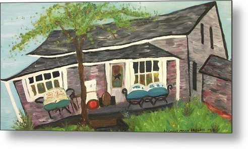 House Metal Print featuring the painting Home In Feeding Hills Mass Part 1 by Suzanne Marie Leclair