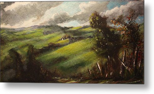 Ireland Metal Print featuring the painting Ireland County Tipperary by Yvonne Ayoub