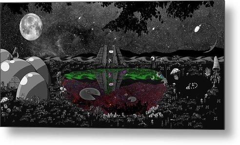 Landscpe Metal Print featuring the digital art Lake Of Dreams by Rox Flame
