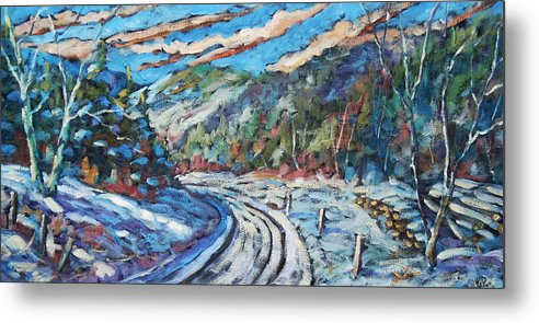 Loggers Metal Print featuring the painting Loggers Road by Richard T Pranke