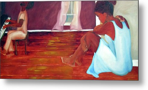 Piano Metal Print featuring the painting Longing by Alima Newton