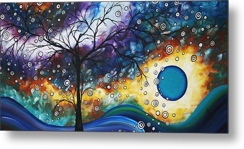 Wall Metal Print featuring the painting Love And Laughter By Madart by Megan Duncanson