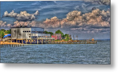 Hdr Metal Print featuring the photograph Riverboat On The Potomac by E R Smith