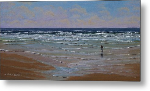 Seascape Metal Print featuring the painting The Surf Walker by Frank Wilson