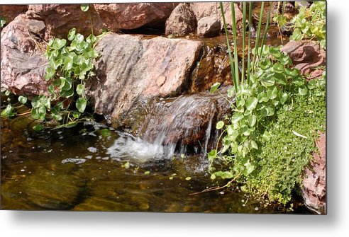 Waterfall Metal Print featuring the photograph A Little Waterfall by Susan Heller