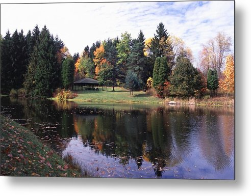 Autumn Colors Metal Print featuring the photograph 102201-23 by Mike Davis