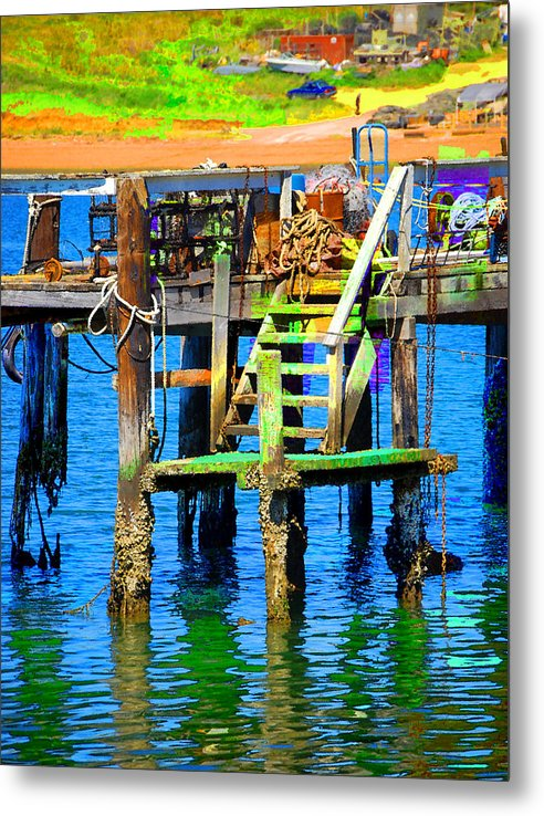 Metal Print featuring the digital art Dock by Danielle Stephenson