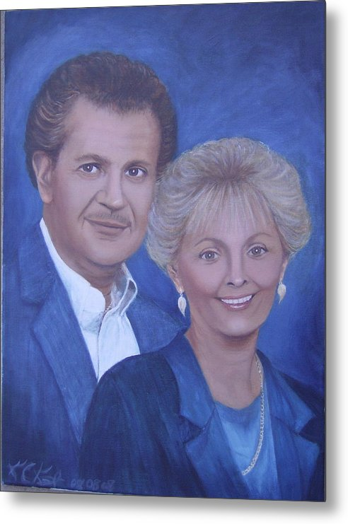 Portraits Metal Print featuring the painting Jane And Ray by KC Knight