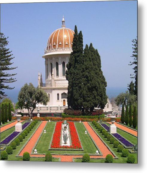 Israel Metal Print featuring the photograph Bahai Gardens by Susan Heller