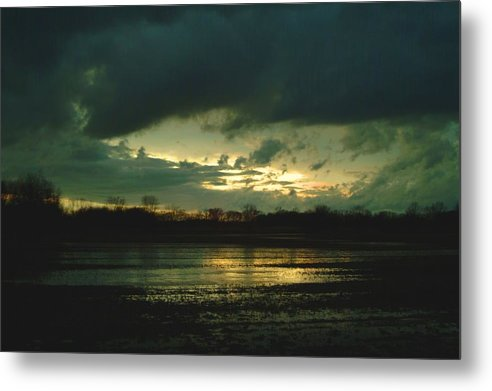Sunset Metal Print featuring the photograph 021109-24 by Mike Davis