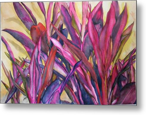 Floral Metal Print featuring the painting Cancun Fires by Diane Ziemski