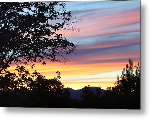 Oak Tree Metal Print featuring the photograph Northern Ca June Sunset by Angie Anliker