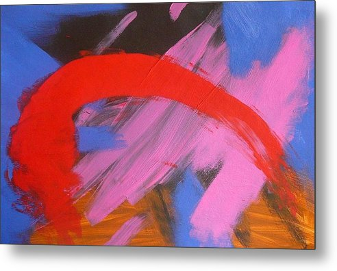 Abstract Metal Print featuring the painting Red Arch by Richard OBrien