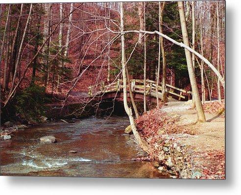 Bridge Metal Print featuring the photograph 092908-5 by Mike Davis