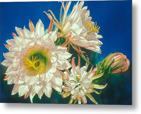 Floral Metal Print featuring the print Encore by Mary Backer