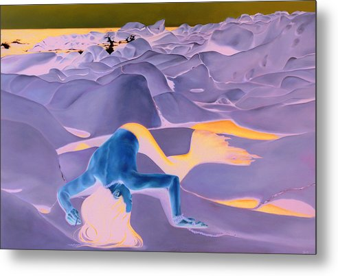 Landscape Metal Print featuring the painting La Fin Des Illusions 2 by Helene Fleury